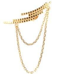 Maria Black - Metallic Crescent Chain Earring - Lyst