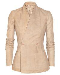 Rick Owens Pink Hollywood Texturedleather Jacket