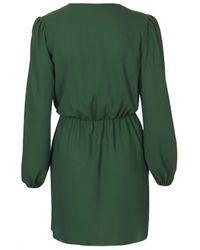 TOPSHOP - Green Chiffon Wrap Dress By Love - Lyst