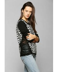 Urban Outfitters | Multicolor White Noise Shredded Leopard Sweater | Lyst