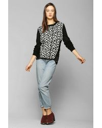 Urban Outfitters - Multicolor White Noise Shredded Leopard Sweater - Lyst