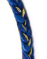 Aurelie Bidermann   Blue Braid Bracelet   Lyst