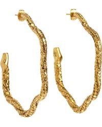 Aurelie Bidermann | Metallic Gold Tao Snake Hoop Earrings | Lyst