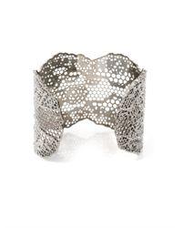 Aurelie Bidermann   Metallic Silver-plated Vintage Lace Cuff   Lyst