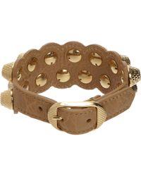 Balenciaga | Yellow Arena Two-Row Giant All Stud Bracelet | Lyst