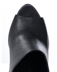 Burberry Prorsum - Black Boucher Leather Wedges - Lyst