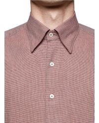 Canali | Red Cotton Shirt for Men | Lyst