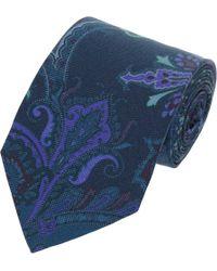 Etro - Blue Paisley Tie for Men - Lyst