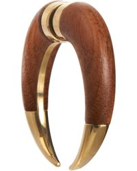 Givenchy - Brown Wood Small Double Shark Tooth Earring - Lyst
