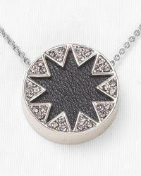 House of Harlow 1960 Black Mini Pave Sunburst Necklace 16