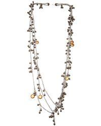 Jean-Francois Mimilla | Metallic Bronze Ball Chain Necklace | Lyst