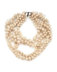 Jean-Francois Mimilla | Brown Glass Bead Necklace | Lyst