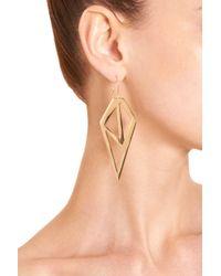 Jennifer Fisher Metallic Brass Galactic Earrings