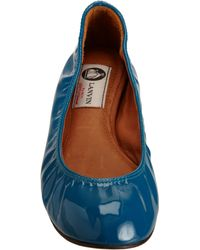 Lanvin | Blue Ballet Flat | Lyst