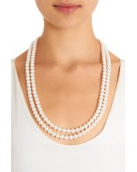 Lanvin | White Pearl Gloria Long Necklace | Lyst