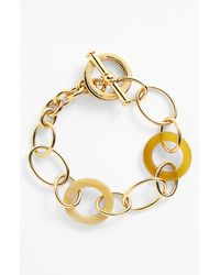 Lauren by Ralph Lauren | Metallic Horn Chain Toggle Bracelet | Lyst