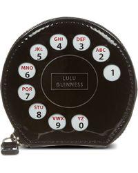 Lulu Guinness Black Phone Dial Coin Purse