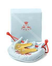 Marie-hélène De Taillac - Diamond Yellow Gold Feather Earrings - Lyst