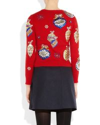 Meadham Kirchhoff Maria Metallicembroidered Knitted Sweater