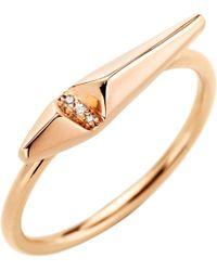 Monique Péan Metallic Diamond Ascent Stacking Ring