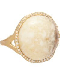 Monique Péan | Metallic Fossilized Walrus Ivory Diamond Ring | Lyst