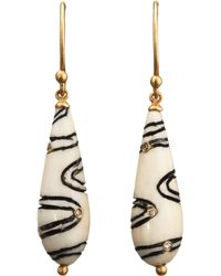 Monique Péan - Metallic Woolly Mammoth Scrimshaw Cone Earrings - Lyst