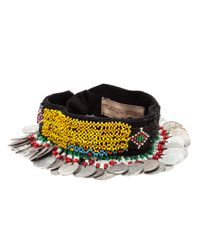 Muzungu Sisters Yellow Coin Bead Embroidered Headpiece