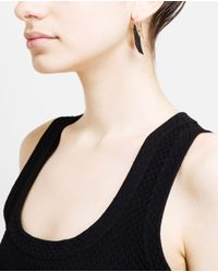 Noor Fares Metallic 18k Gold and Ebony Wing Earrings
