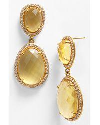Nunu Designs | Metallic Stone Drop Earrings | Lyst