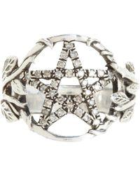 Pamela Love - Metallic Champagne Diamond Pentagram Ring - Lyst