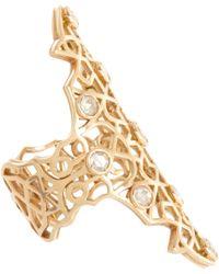 Repossi - Pink Diamond Rose Gold Maure Ring - Lyst