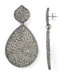 Roni Blanshay | Metallic Large Mesh Teardrop Earrings | Lyst
