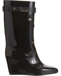Sergio Rossi - Black Wedge Rain Boot - Lyst
