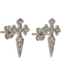 Stone - Metallic Blood Diamond Button Earrings - Lyst