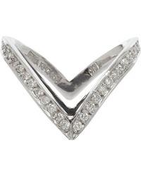 Ana Khouri | Metallic Diamond Double Livia Ring | Lyst