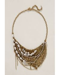 Anthropologie - Metallic Sparkled Chainmail Necklace - Lyst