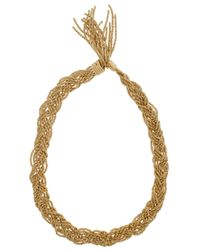 Aurelie Bidermann | Metallic Miki Gold Braided Necklace | Lyst
