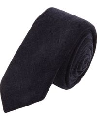 Barneys New York - Blue Micro Corduroy Tie for Men - Lyst