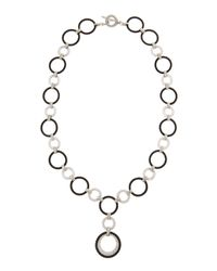 Charriol | Black Diamondpendant Roundlink Necklace | Lyst
