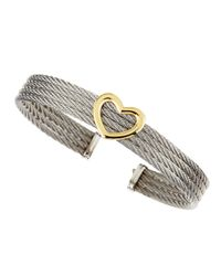 Charriol - Metallic Heartstation Fourrow Cable Bangle - Lyst
