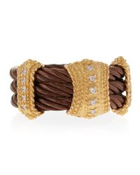 Charriol | Brown Threestation Diamond Cable Ring Size 65 | Lyst