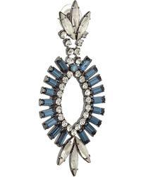 Elizabeth Cole Blue Hematiteplated Swarovski Crystal Earrings