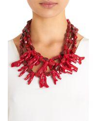 Fenton - Red Crimson Coral Bib Necklace - Lyst