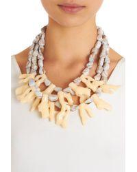 Fenton - Natural Parchment Coral Bib Necklace - Lyst