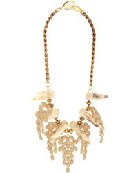 Fenton | Natural Crystal Coral Weeping Collar | Lyst