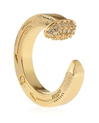Giles & Brother - Yellow Pave Railroad Spike Ring - Lyst