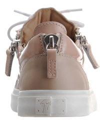 Giuseppe Zanotti - Natural Patent Zip Sneaker - Lyst