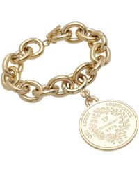 Givenchy - Metallic Pale Gold Small Medallion Bracelet - Lyst