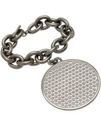 Givenchy Metallic Ruthenium Large Medallion Bracelet