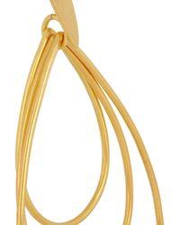 Herve Van Der Straeten Metallic Goldplated Teardrop Clip Earrings